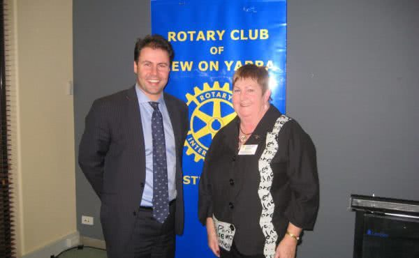 Speech to Kew on Yarra Rotary Club