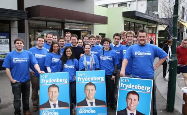 A Sea of Blue in Burke Road, Camberwell