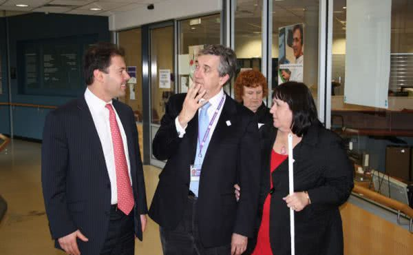 Visit to Vision Australia in Glenferrie Road