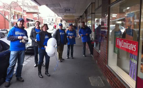 Campaigning in Maling Road, Canterbury