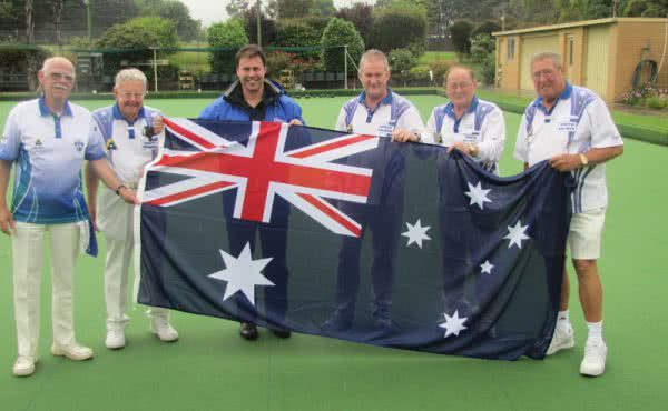 Presentation of the Australian flag to North Balwyn Bowls Club