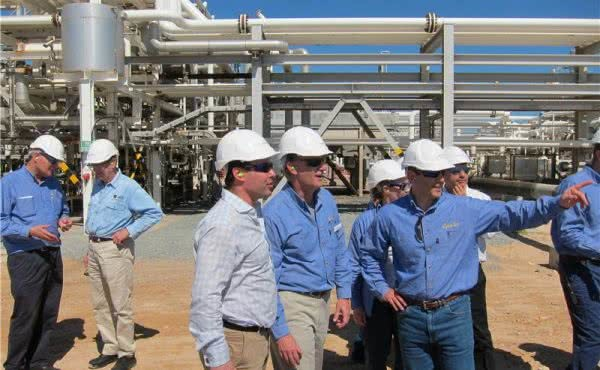 Oil and gas site visit in WA