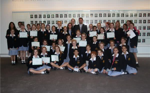 Strathcona students visit Parliament House