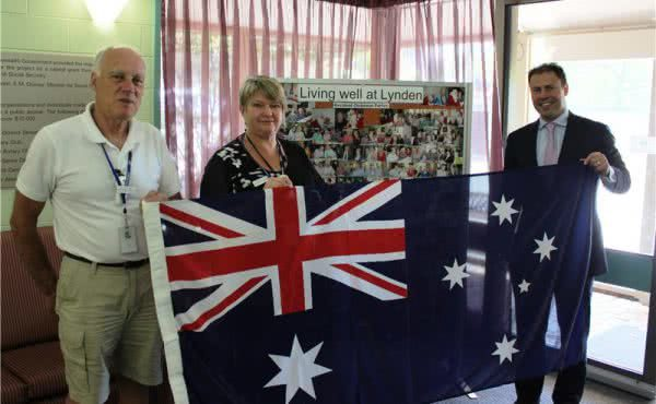 Flag Presentation at Lynden Aged Care