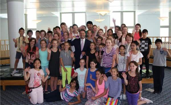 Sacred Heart visits Parliament House