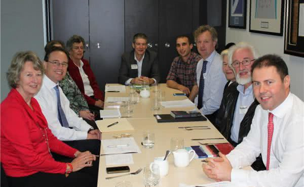 Josh hosts lunch with Greg Hunt and Lighter Footprints