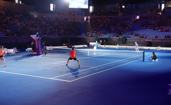 Tennis with Alicia Molik on Margaret Court Arena
