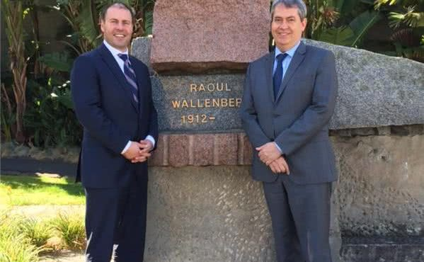 Visit to the Raoul Wallenberg Memorial