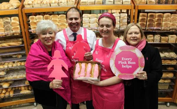 Kicking off BCNA and Bakers Delight Pink Bun Campaign
