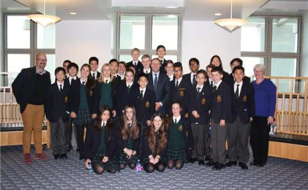 Balwyn High School visits Parliament House