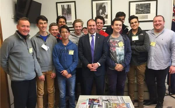 Xavier Writers' Tour visits Parliament House