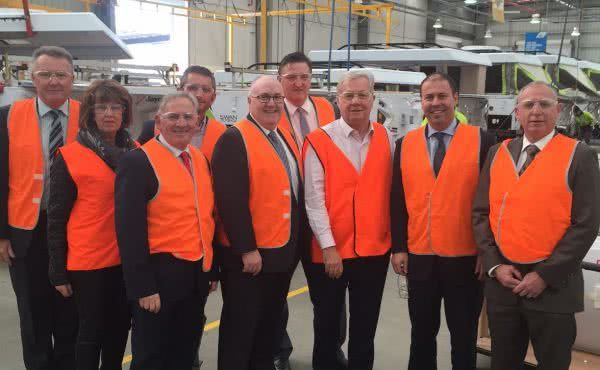 Visit to Jayco with Brett Whiteley MP