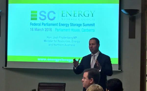 Federal Parliament Energy Storage Summit