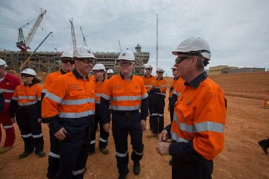 Visit to Gorgon LNG with the Prime Minister