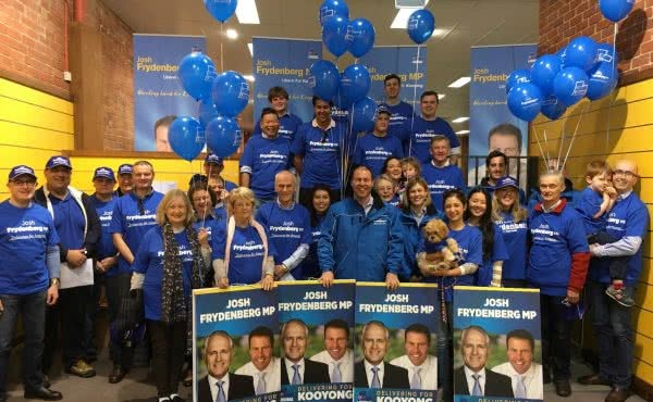 On the hustings with the Frydenberg for Kooyong team