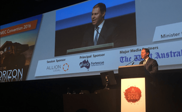 Address to 2016 AMEC Conference in Western Australia