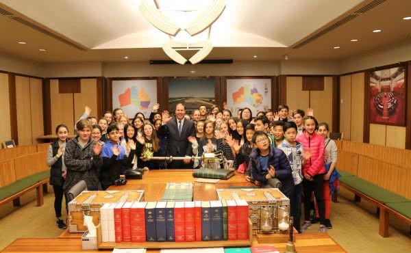 Kew Primary School visits Parliament House