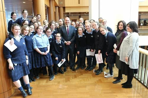 Beth Rivkah students at Parliament