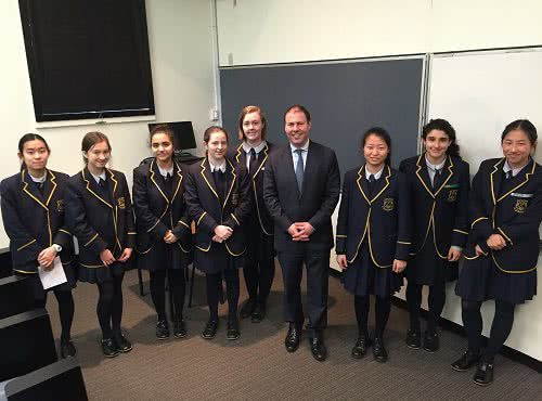 Politics class at Fintona Girls' School