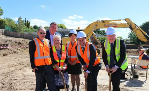 Turning the sod at the North East Community Hub in Balwyn North