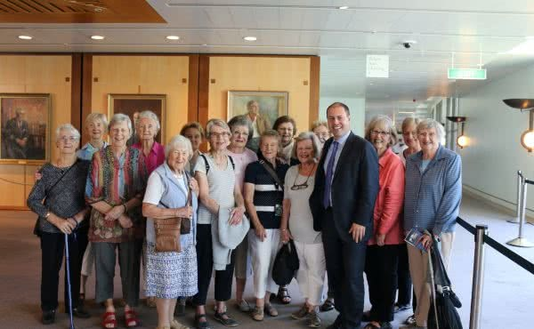 Meeting with Balwyn Life Activities Club in Parliament House