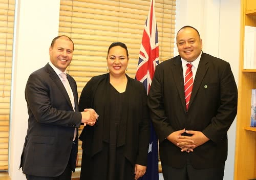Meeting with Deputy Prime Minister Siosi Sovaleni of Tonga and Her Royal Highness Princess Angelika Lātūfuipeka Tuku'aho