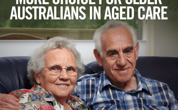 Focus on the delivery of quality in-home services for older Australians