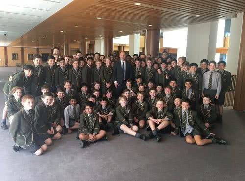 Visit from Trinity Grammar School