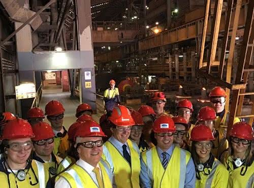 Visit to BlueScope's Port Kembla steelworks with the Prime Minister