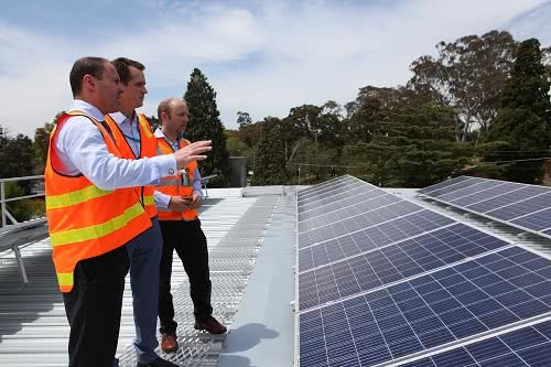 Kew Senior Centre fitted with rooftop solar panels