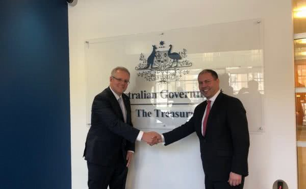 Visit to Treasury with former Treasurer Scott Morrison