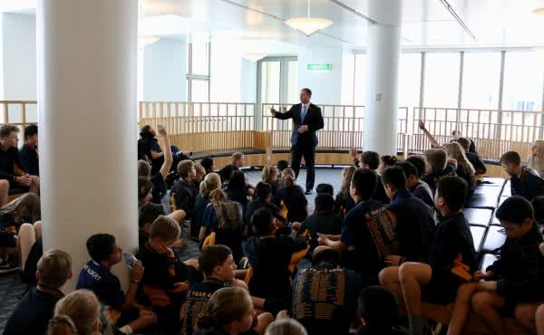 Mont Albert Primary School visits Parliament House