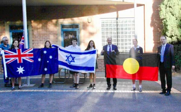Flag Presentation at Bialik College