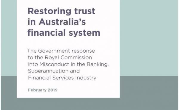 Restoring Trust in Australia's Financial System