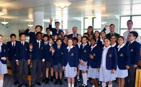 Erasmus Primary School visit Parliament House