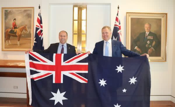 Australian Flag presentation from the House of Representatives chamber