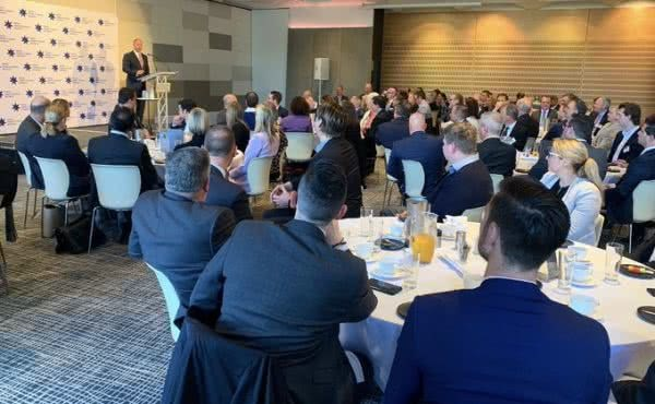 Addressing the Victorian Chamber of Commerce