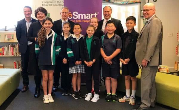 Launching the Alannah and Madeline Foundation National ESmart Week at Auburn South Primary School