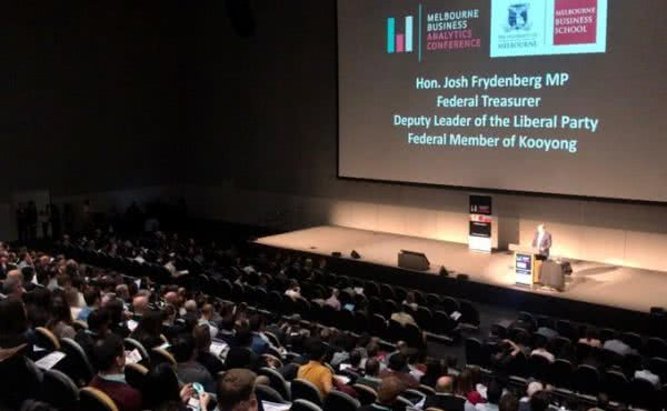 Opening the Melbourne Business School's Business Analytics Conference