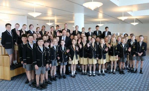 Carey Baptist Grammar Visits Parliament House