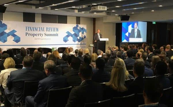 Delivering the Keynote Address at the AFR Property Summit