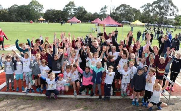 Opening the new long jump at Kew Little Athletics Centre