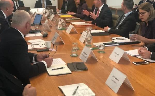Meeting with insurance company CEOs to discuss their bushfire response