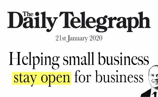 Helping small business stay open for business