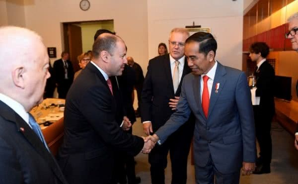 Welcoming President Joko Widodo to Parliament House