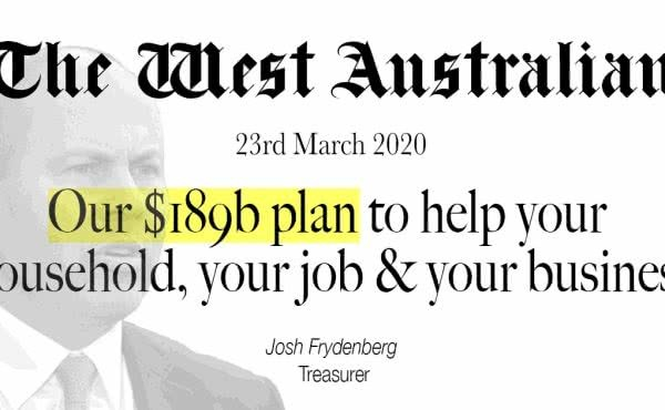 Our $189b plan to help your household, your job & your business