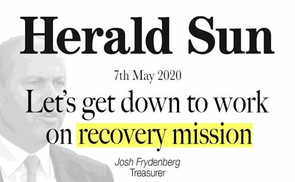 Let's get down to work on recovery mission