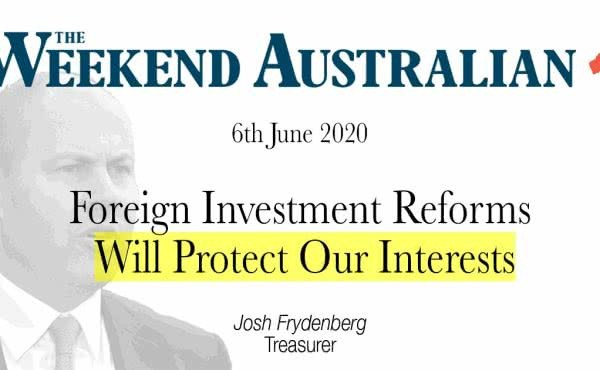 Foreign Investment Reforms Will Protect Our Interests