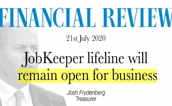 JobKeeper lifeline will remain open for business