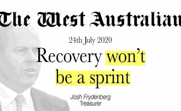 Recovery won't be a sprint